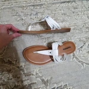 Sonoma Sandals White and Tan size 7